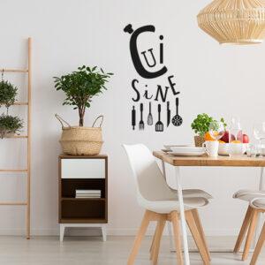 Sticker déco dans une salle à manger citation Cuisine
