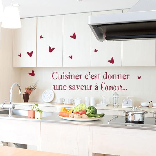 Sticker déco Cuisiner saveur dans une cuisine