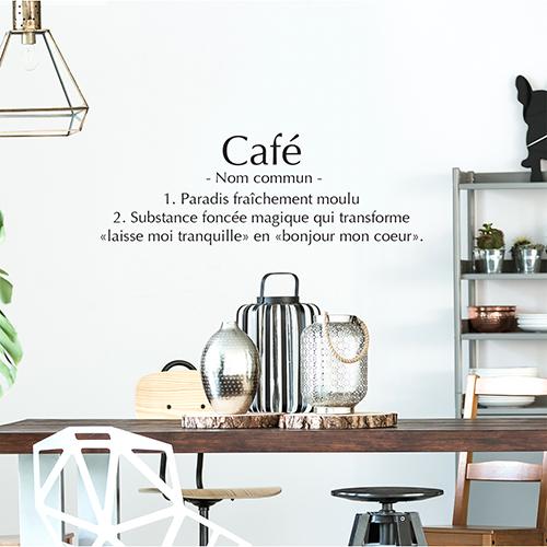 Sticker autocollant Café au dessus d'une table à manger