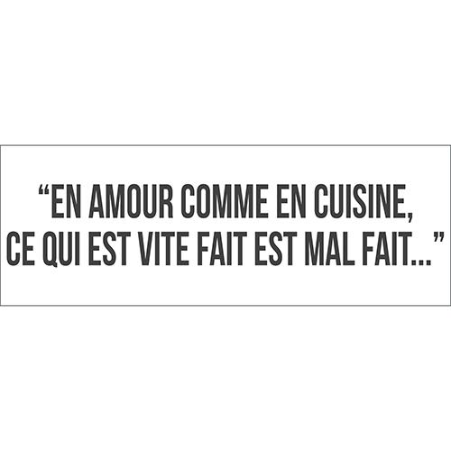 Sticker citation Amour cuisine noir