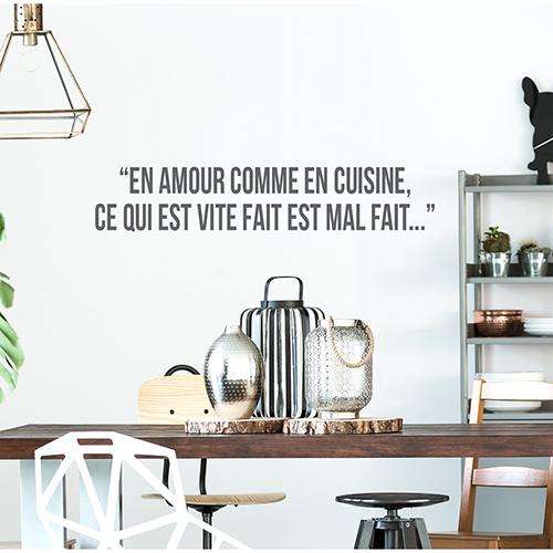 Sticker adhésif Amour cuisine au dessus d'une table dans un salon