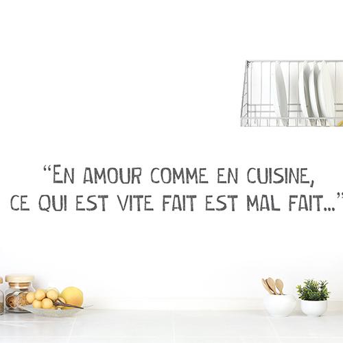Sticker mural Amour cuisine à côté d'une lampe