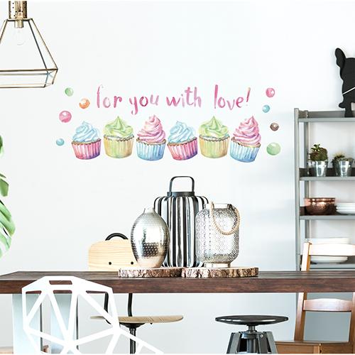 Sticker citation murale au dessus d'une table à manger