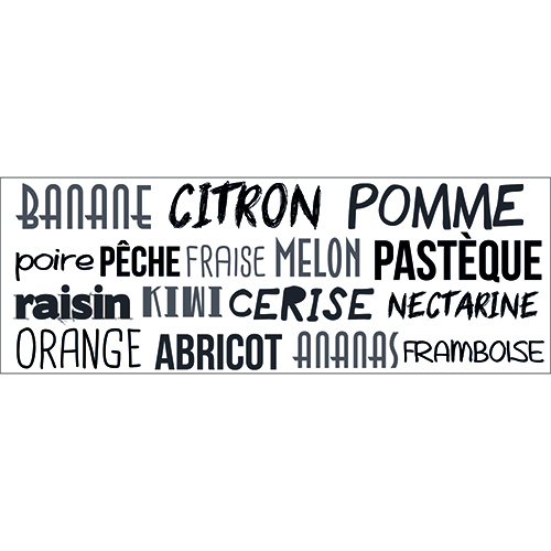 Sticker mural pour cuisine citation Ananas Citron
