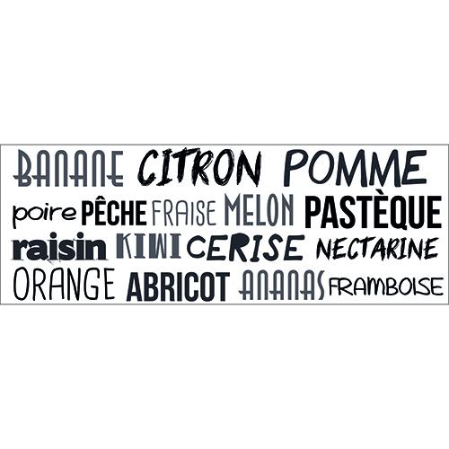 Sticker mural pour cuisine citation Ananas Citron