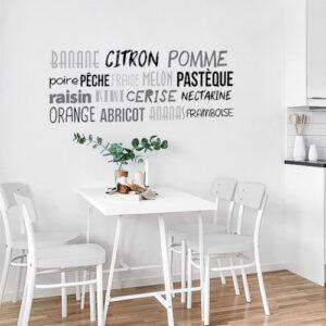 Sticker mural Ananas citron au dessus d'une table à manger