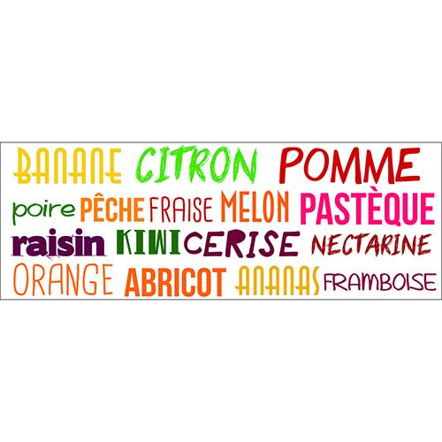 Sticker déco Banane Citron multicolore citation