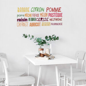 Sticker mural Banane citron au dessus d'une petite table de salon