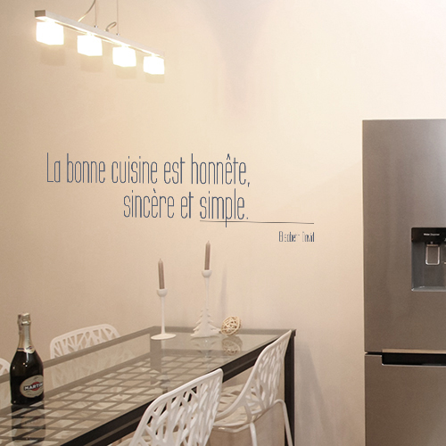Sticker autocollant La bonne cuisine à côté d'un frigo