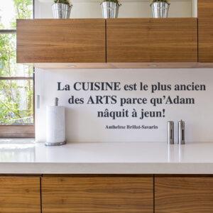 Sticker autocollant Cuisine au dessus d'un évier de cuisine
