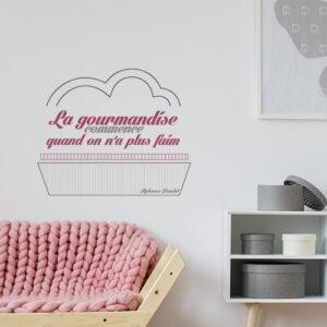 Sticker autocollant La gourmandise dans un salon au dessus d'un canapé