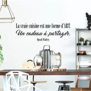 Sticker adhésif La vraie cuisine déco au dessus d'une table de salon