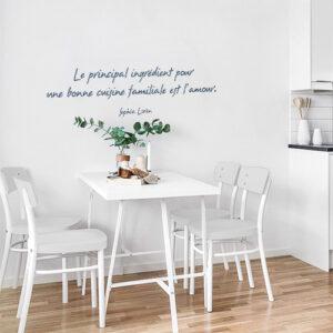Sticker mural au dessus d'une table dans un salon Le principal Ingrédient