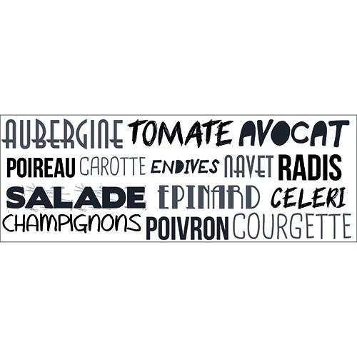 Sticker citation Aubergine déco pour pièces de la maison