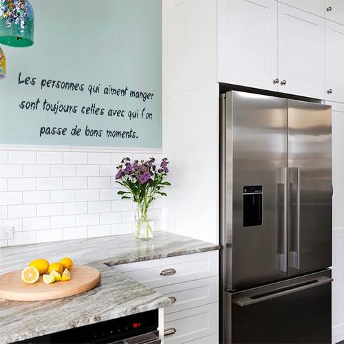 Stickers Les personnes aiment manger déco dans une cuisine moderne