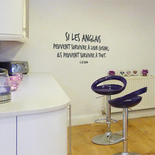 Sticker mural à côté d'un bar dans une cuisine Si les Anglais