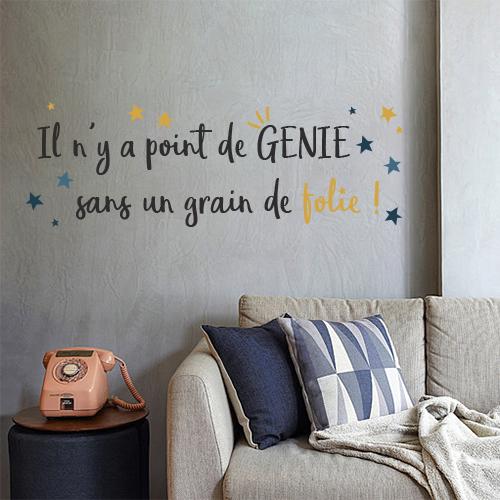Sticker mural Point de génie au dessus d'un canapé