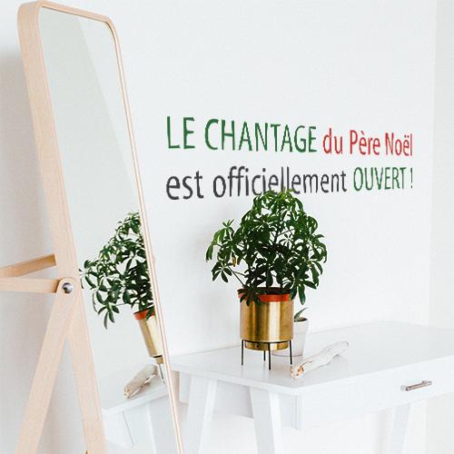 Adhésif mural citation humour chantage père noel