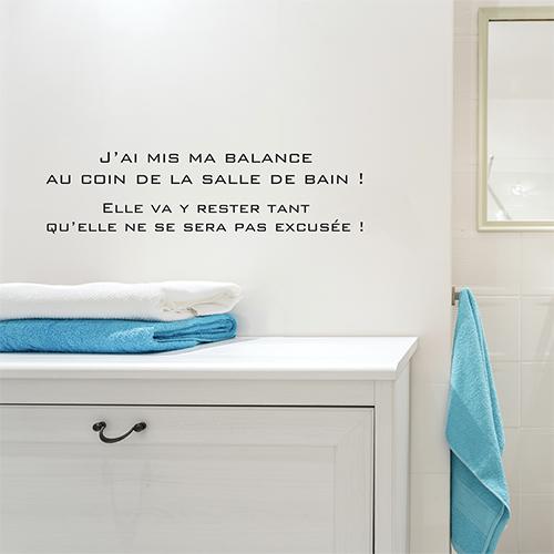 Meuble de salle de bain surplombé avec un sticker autocollant Balance