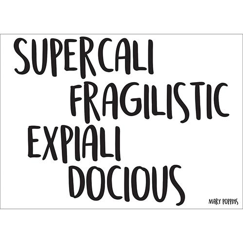 Sticker décoratif formule magique inspiration Marry Poppins pour déco murale