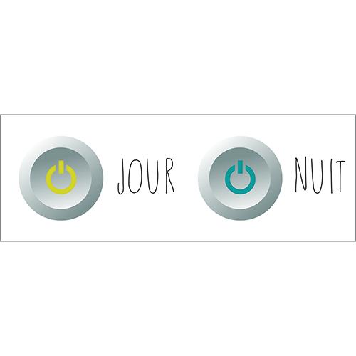 Sticker pour WC interrupeteurs jour nuit