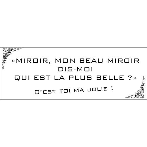 Sticker citation Mirroir imitation citation Disney pour déco murale