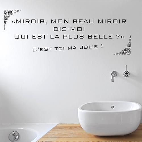Miroir salle de bain moderne orné d'un sticker autocollant Miroir