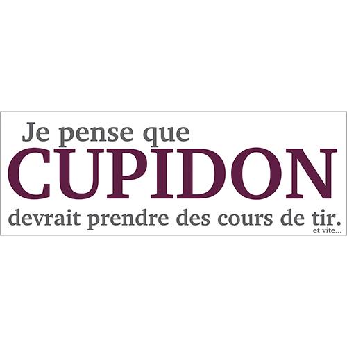 Sticker citation fun Cupidon pour décoration murale