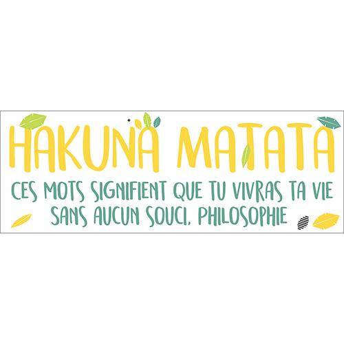 Sticker citation Disney Hakuna Matata pour enfants