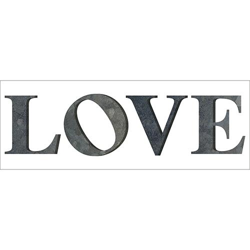 Sticker décoratif écriture citation LOVE