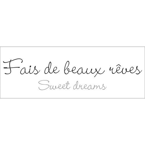 Sticker mural noir et blanc Fais de beaux rêves
