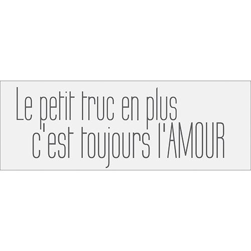 Sticker autocollant citation sur l'amour pour déco d'intérieur