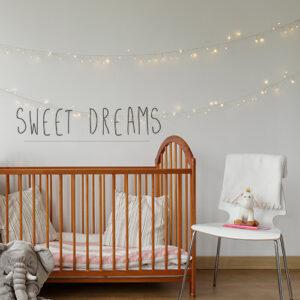 Sticker autocollant Sweet Dreams citation dans une chambre d'enfant