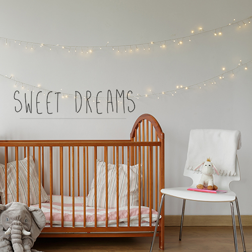Sticker autocollant Sweet Dreams citation dans une chambre d'enfant
