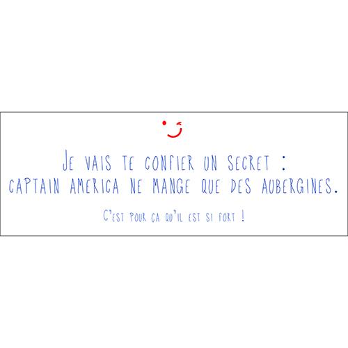 Sticker décoratif pour enfants citation Je vais te confier un secret Captain America