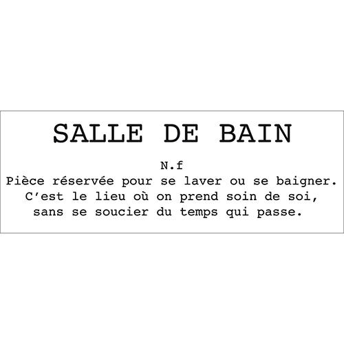 Sticker mural citation définition Salle de Bain pour salle de bain