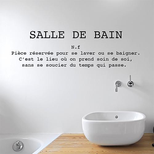 Salle de bain moderne avec un sticker définition Salle de bain au dessus du lavabo