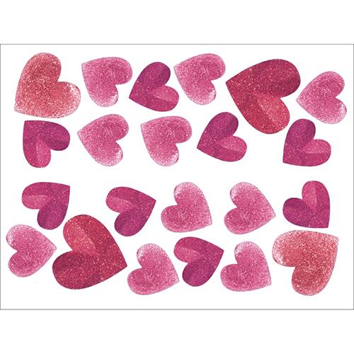 Stickers élctrostatiques pour les vitres et fenêtres Coeurs rose pour déco pour la saint valentin