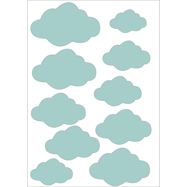 Sticker adhésif Nuages 3D bleu pour décoration des murs intérieurs