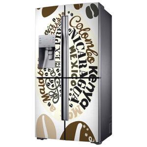 """Sticker pour réfrigérateur américain """"Arabica"""""""