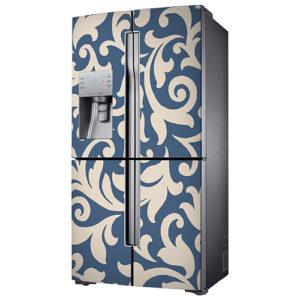 """Sticker """"Baroque"""" pour réfrigérateur américain"""