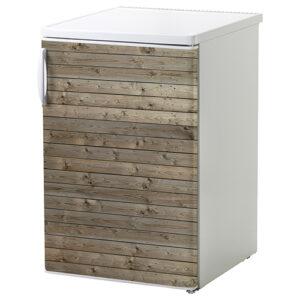 """Mini réfrigérateur avec sticker """"bois horizontal"""""""