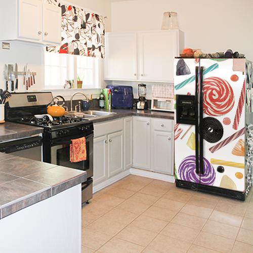 Cuisine équipée avec réfrigérateur américain décoration