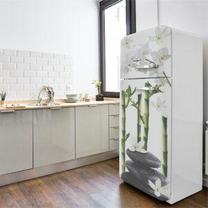 """Réfrigérateur vintage avec sticker """"Zen"""""""