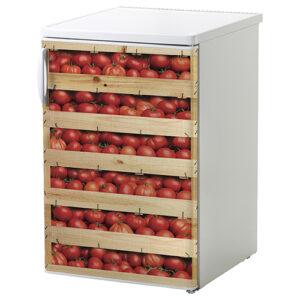 """Autocollant """"Tomates"""" sur réfrigérateur de petite taille"""