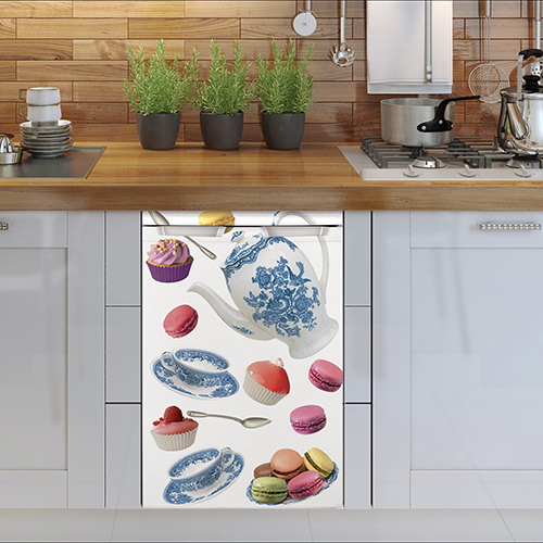 Mini frigo avec sticker