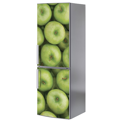 Adhésif autocollant sticker pour frigo classique sur le thème des pommes vertes