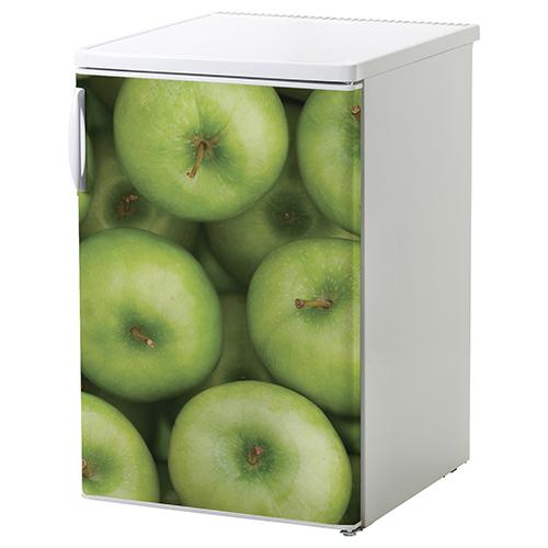 Sticker électroménager pomme pour petit frigo blanc