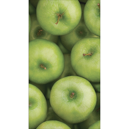 Sticker cuisine pommes grand frigo américain motif pommes dans cuisine moderne