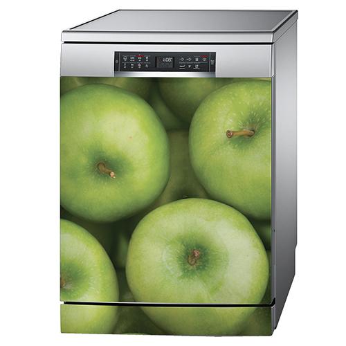 Sticker pommes sur un lave vaisselle